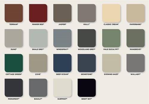 Standard Colour Palette